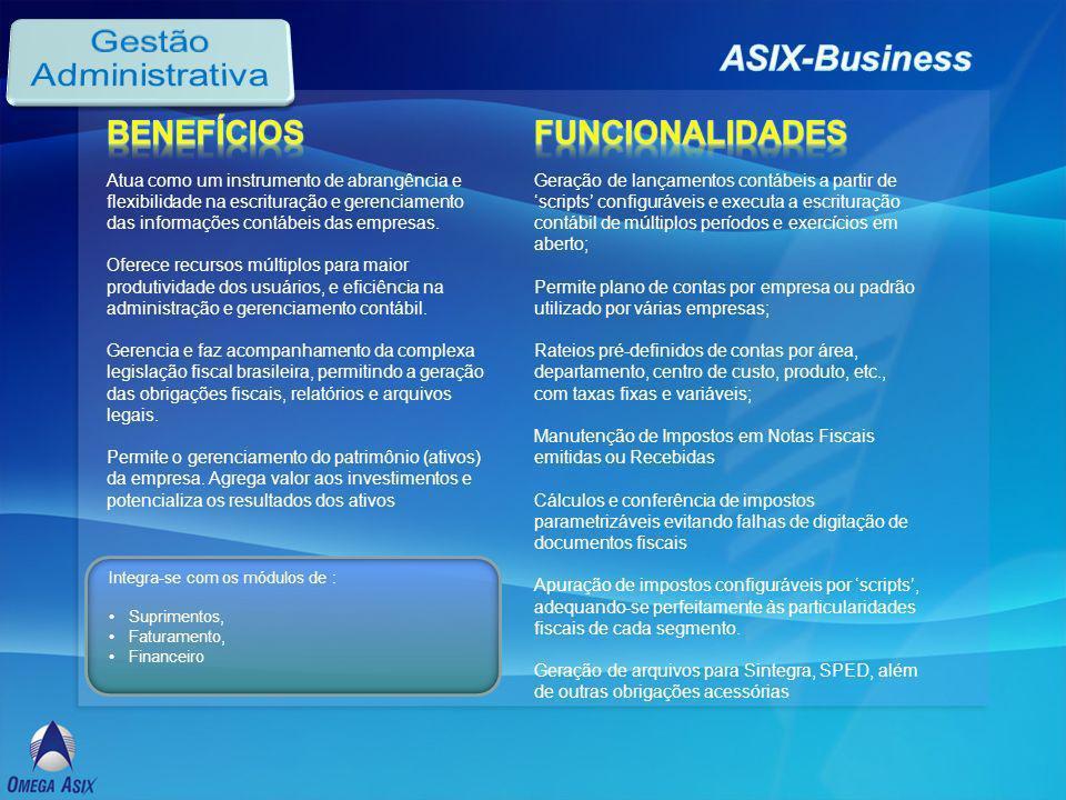 Atua como um instrumento de abrangência e flexibilidade na escrituração e gerenciamento das informações contábeis das empresas.