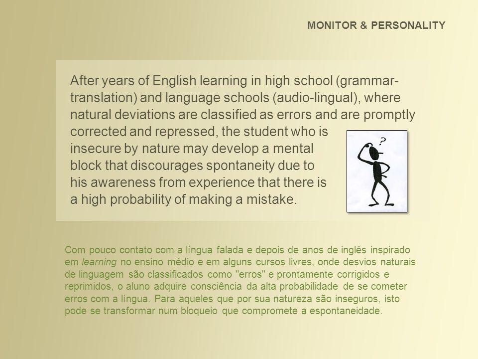 Estudei inglês por 4 anos, o que descobri ser muito pouco para quem tem verdadeira intenção de aprender e obter fluência.