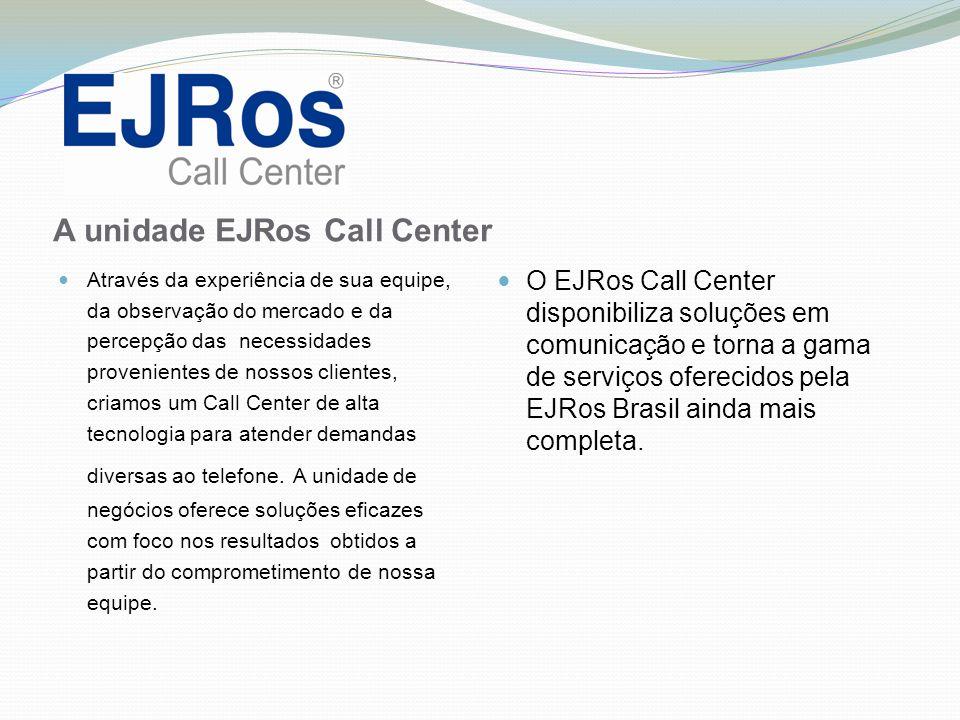 Para maiores informações, esclarecimentos e propostas, contate-nos: Endereço Rua Luiz Michelon nº 1808 - Sala 1 Centro CEP 95074-000 Caxias do Sul – RS Telefone (54) 3021.3045 Contato: E-mail: Cleusa Oliboni callcenter@ejros.com.br cleusa@ejros.com.br Apresentação EJRos Call Center – Rev 00.
