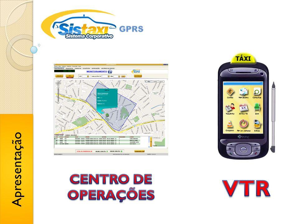 VTR´s Ocupadas MOSTRA VTRS OCUPADAS EM SUAS RESPECTIVAS ÁREAS OU PA´s Status por cor Informações da corrida Mapa...