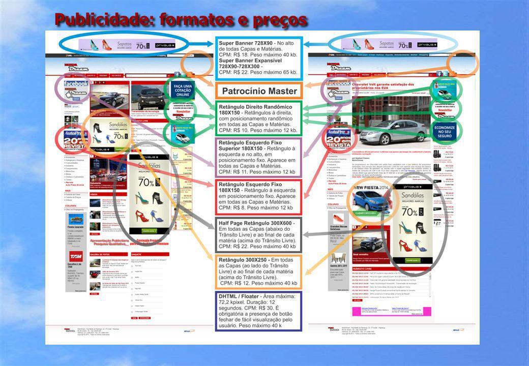 Publicidade: formatos e preços
