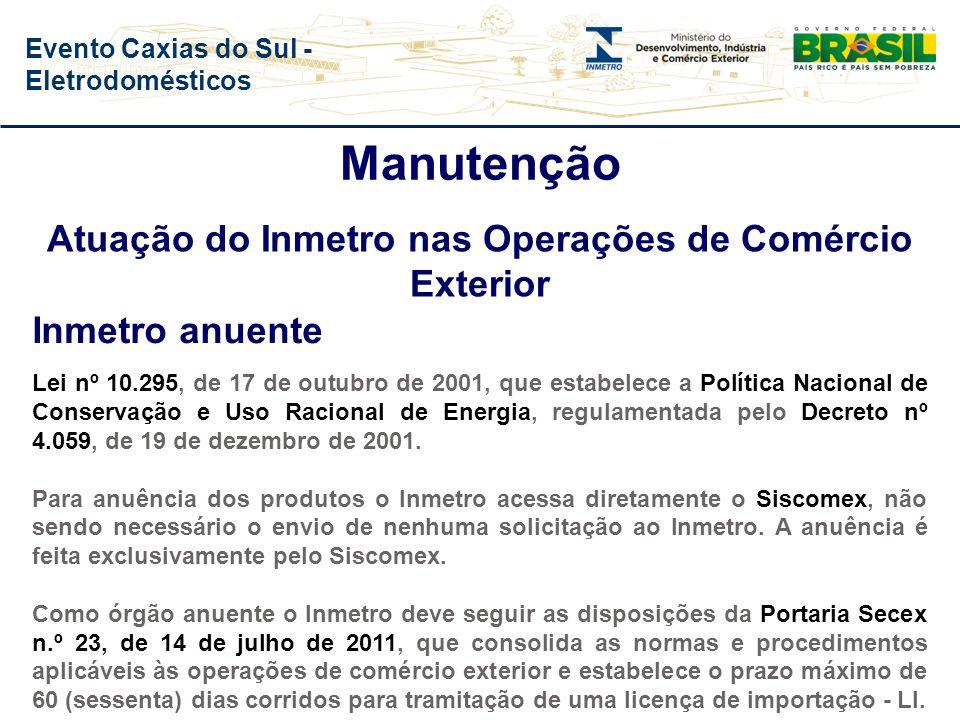 Evento Caxias do Sul - Eletrodomésticos Evolução do Nº de Ações de Fiscalização