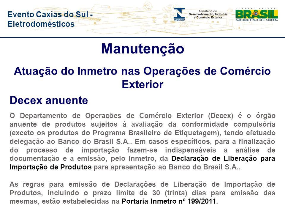 Evento Caxias do Sul - Eletrodomésticos Manutenção Lei nº 10.295, de 17 de outubro de 2001, que estabelece a Política Nacional de Conservação e Uso Ra