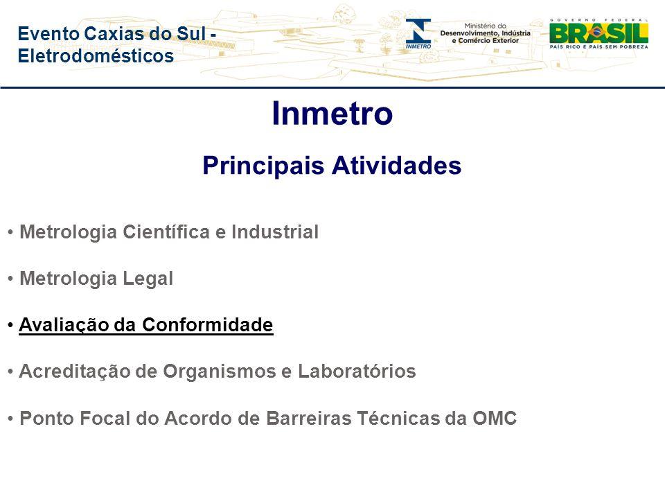 Inmetro Missão Prover confiança à sociedade brasileira nas medições e nos produtos, através da metrologia e da avaliação da conformidade, promovendo a