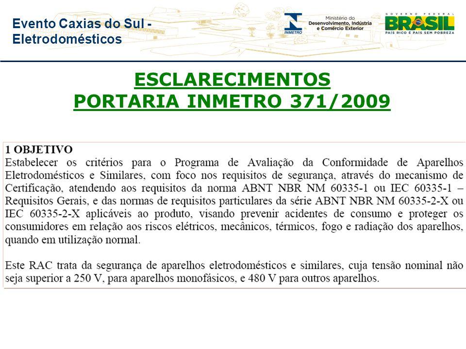 Evento Caxias do Sul - Eletrodomésticos PRAZOS – ESCLARECIMENTOS