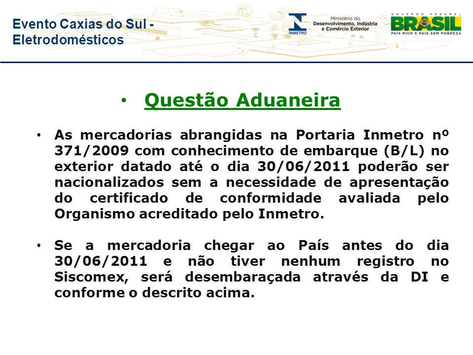 Evento Caxias do Sul - Eletrodomésticos ABRANGÊNCIA Quantidade de produtos abrangidos pela Portaria: 146 produtos – 1º prazo 13 produtos – 2º prazo Qu