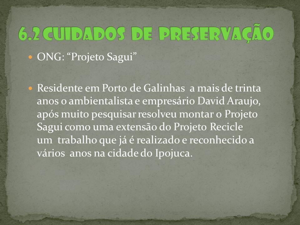 ONG: Projeto Sagui Residente em Porto de Galinhas a mais de trinta anos o ambientalista e empresário David Araujo, após muito pesquisar resolveu monta