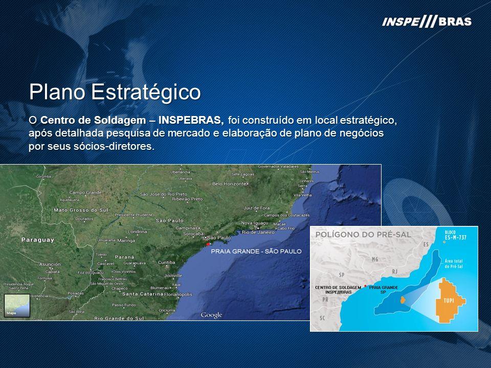 Plano Estratégico O Centro de Soldagem – INSPEBRAS, foi construído em local estratégico, após detalhada pesquisa de mercado e elaboração de plano de n