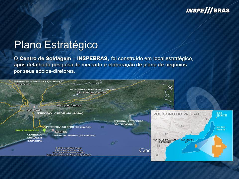 Plano Estratégico O Centro de Soldagem – INSPEBRAS, foi construído em local estratégico, após detalhada pesquisa de mercado e elaboração de plano de negócios por seus sócios-diretores.