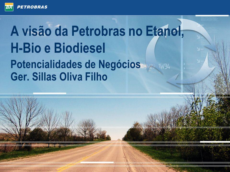 A visão da Petrobras no Etanol, H-Bio e Biodiesel Potencialidades de Negócios Ger. Sillas Oliva Filho