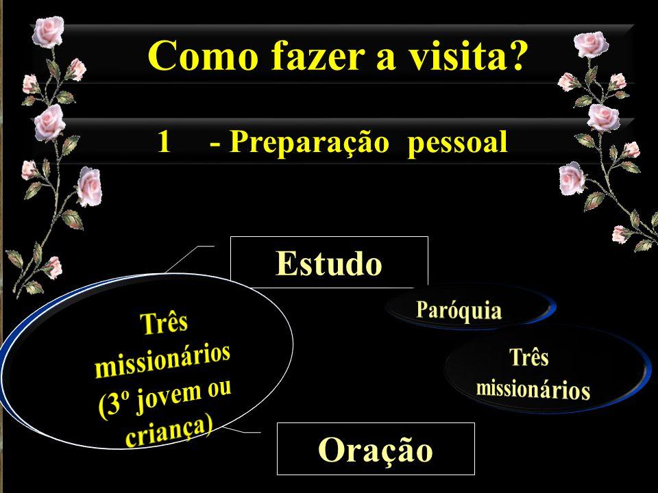 1- Preparação pessoal Como fazer a visita? Estudo Oração