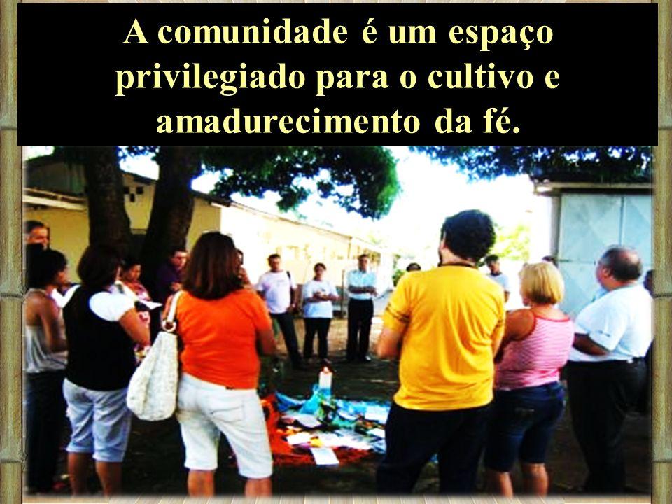 A comunidade é um espaço privilegiado para o cultivo e amadurecimento da fé.