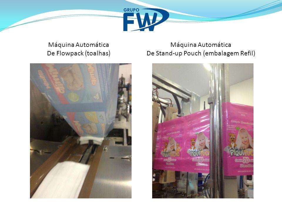 Máquina Automática De Flowpack (toalhas) Máquina Automática De Stand-up Pouch (embalagem Refil)