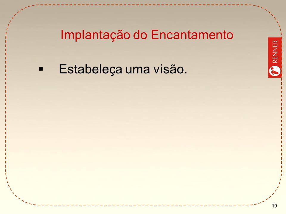 19 Implantação do Encantamento Estabeleça uma visão.