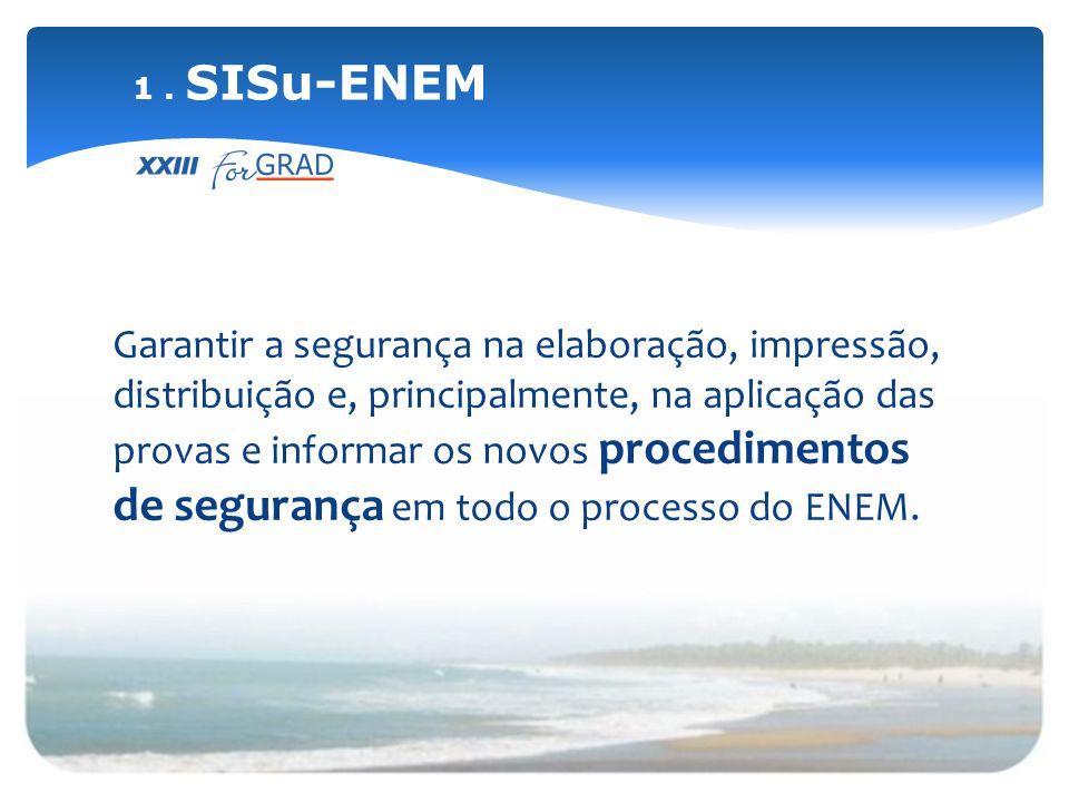 Sistematizar estudo estatístico e comparativo das provas do ENEM visando analisar as áreas e pesos de cada uma.