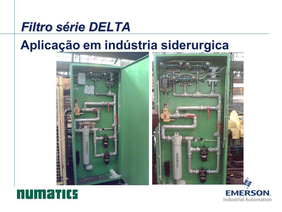 Aplicação em indústria siderurgica Filtro série DELTA