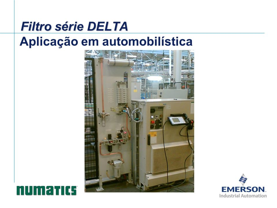 Aplicação em automobilística Filtro série DELTA
