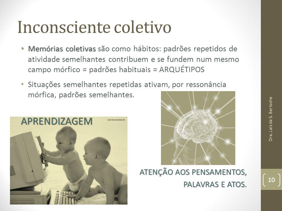 Inconsciente coletivo Memórias coletivas Memórias coletivas são como hábitos: padrões repetidos de atividade semelhantes contribuem e se fundem num me