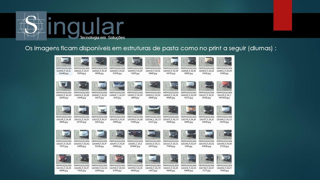 Tecnologia em Soluções Os imagens ficam disponíveis em estruturas de pasta como no print a seguir (diurnas) :