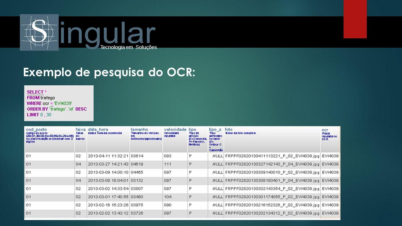 Tecnologia em Soluções Exemplo de pesquisa do OCR: