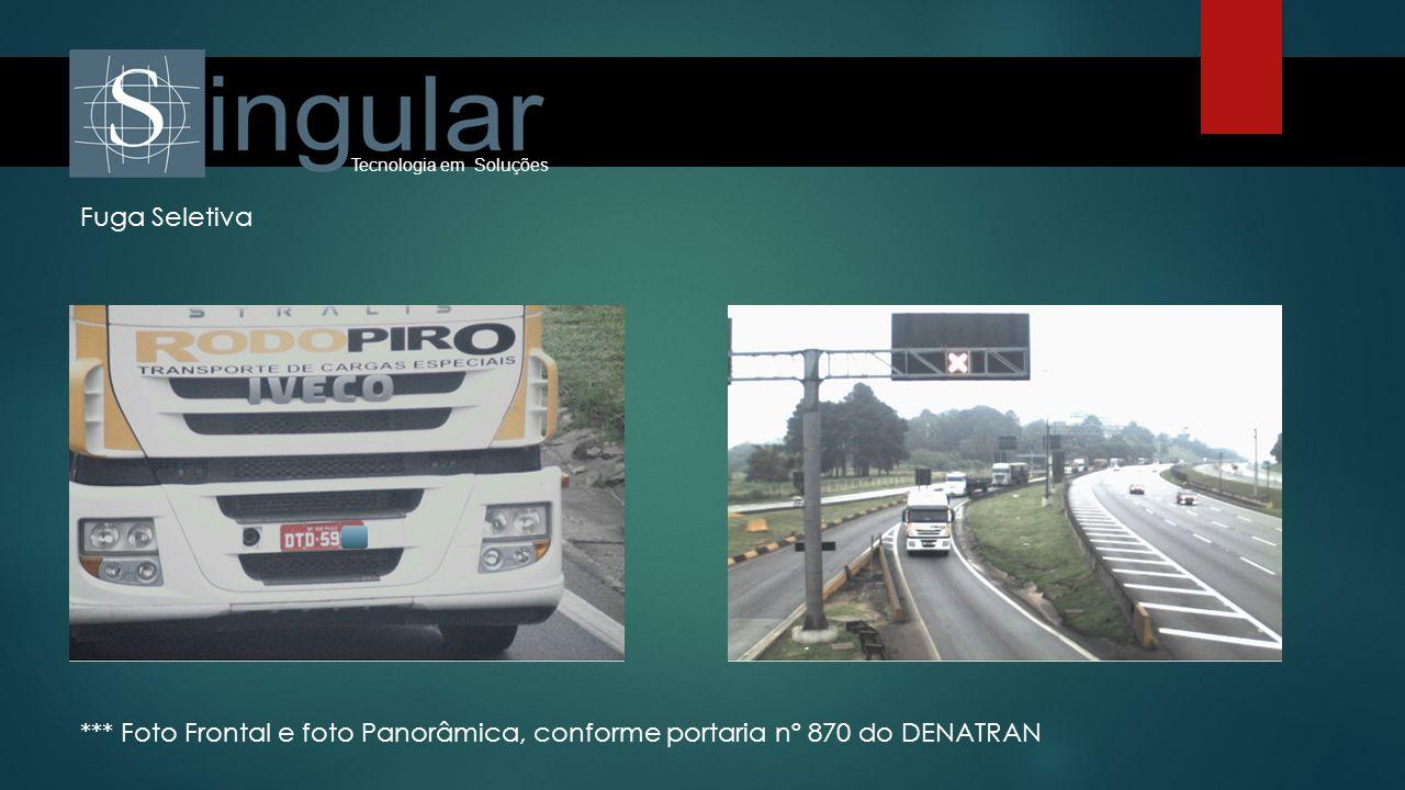 Tecnologia em Soluções *** Foto Frontal e foto Panorâmica, conforme portaria nº 870 do DENATRAN Fuga Seletiva