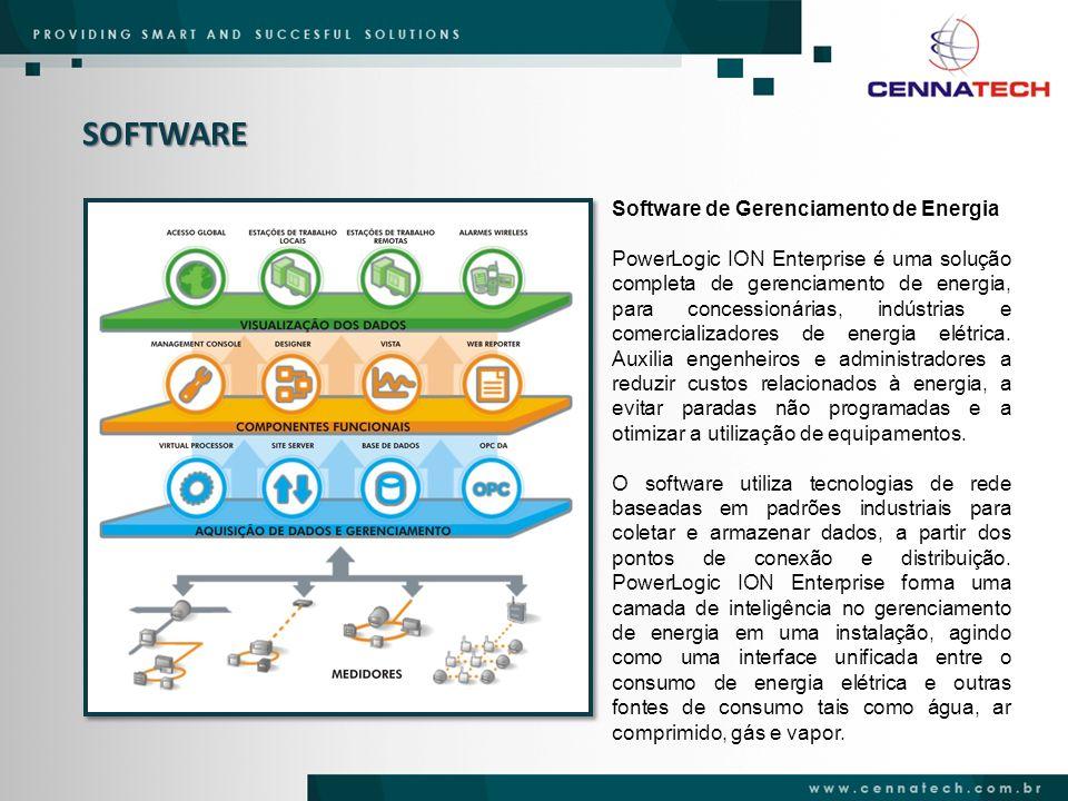 SOFTWARE Cada usuário dispõe de um acesso personalizado a informações relevantes de monitoramento, através da rede corporativa e relatórios configuráveis.