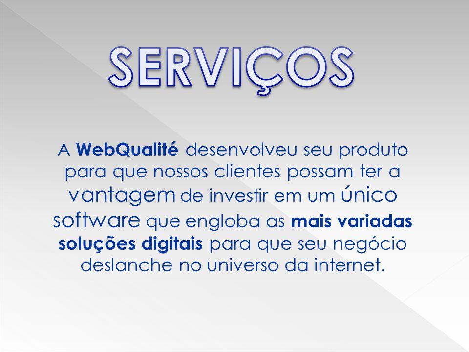 A WebQualité desenvolveu seu produto para que nossos clientes possam ter a vantagem de investir em um único software que engloba as mais variadas soluções digitais para que seu negócio deslanche no universo da internet.