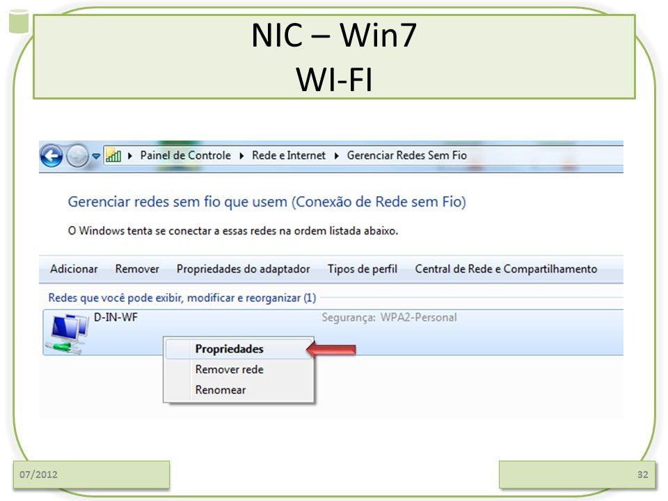NIC – Win7 WI-FI 07/201232