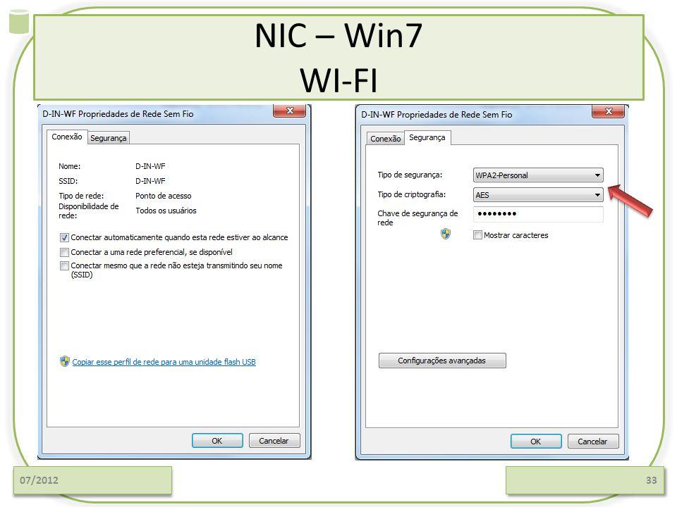 NIC – Win7 WI-FI 07/201233