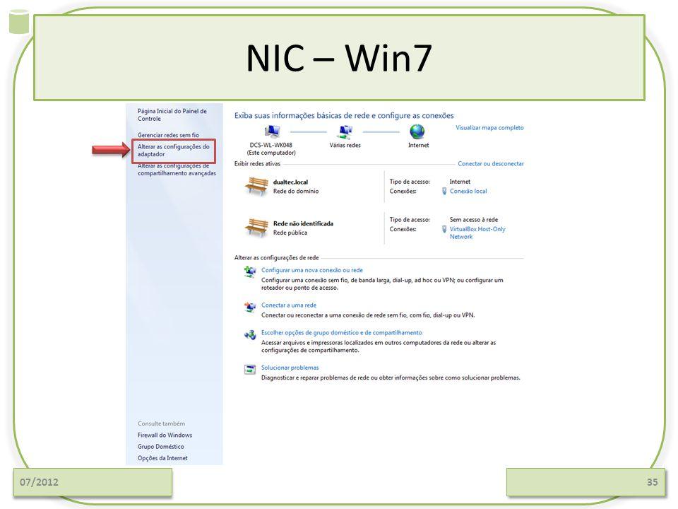 NIC – Win7 07/201235