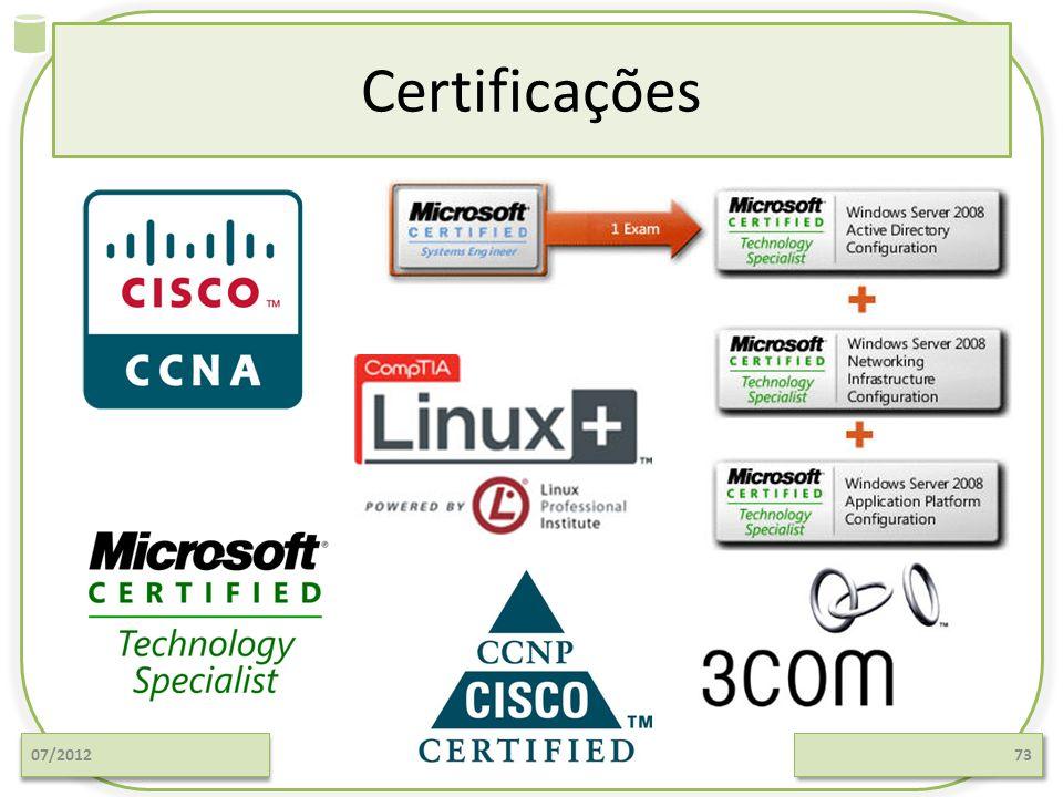 Certificações 07/201273