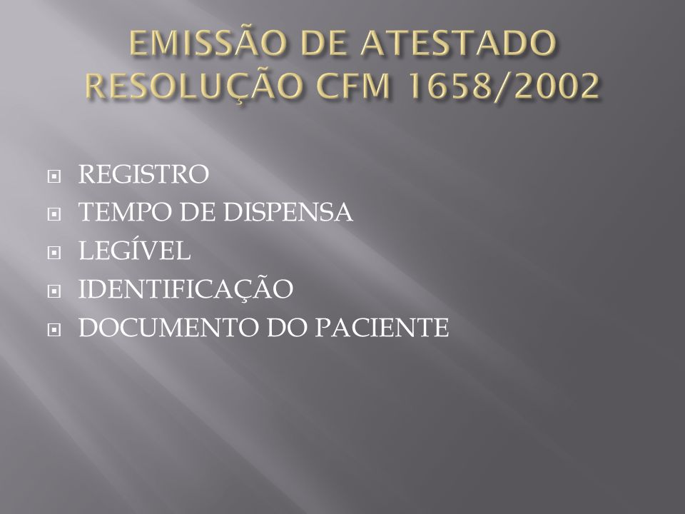 REGISTRO TEMPO DE DISPENSA LEGÍVEL IDENTIFICAÇÃO DOCUMENTO DO PACIENTE