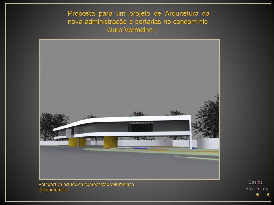 Planta Baixa 1º Pavtº Escala________________1/200 Proposta para um projeto de Arquitetura da nova administração e portarias no condomínio Ouro Vermelho I