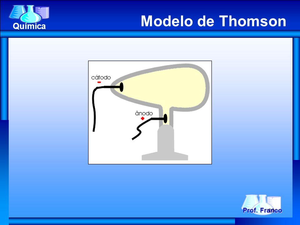 Prof. Franco Química Modelo de Thomson 10