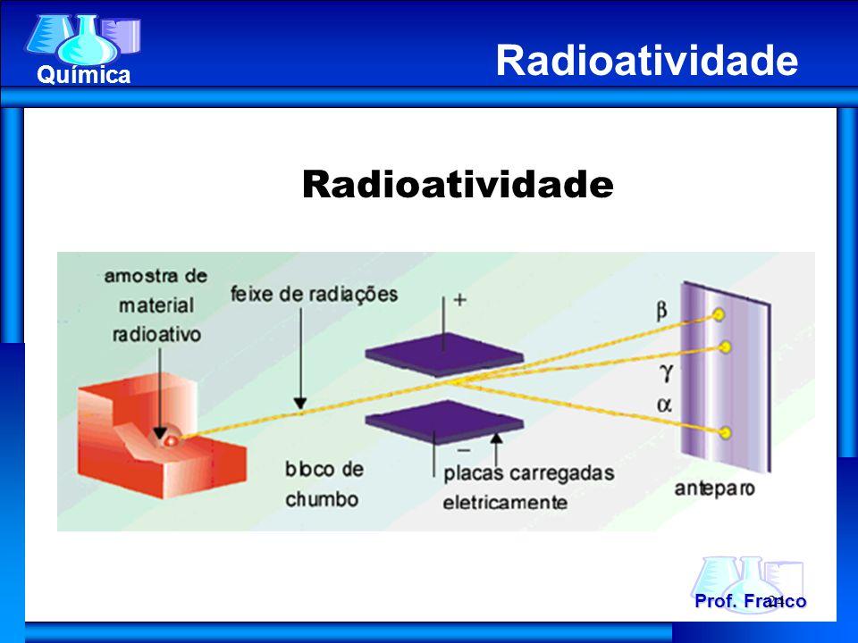 Radioatividade Prof. Franco Química Radioatividade 24