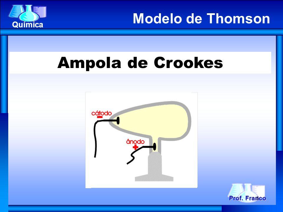 Ampola de Crookes Prof. Franco Química Modelo de Thomson 8