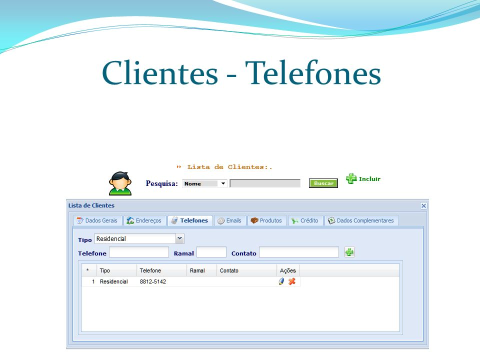 Clientes - Telefones