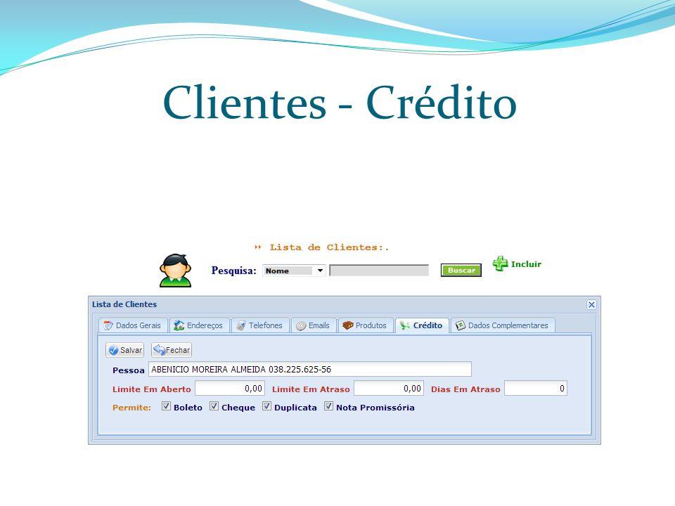Clientes - Crédito