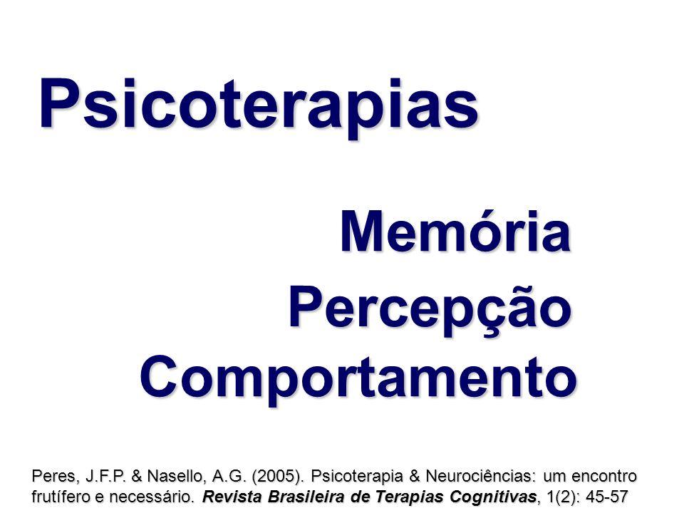 Memória Comportamento Percepção Peres, J.F.P. & Nasello, A.G. (2005). Psicoterapia & Neurociências: um encontro frutífero e necessário. Revista Brasil