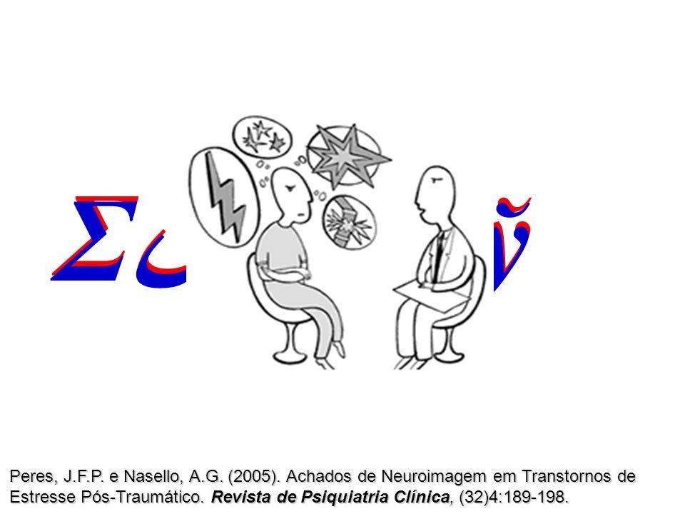 Σ س βδЊў Peres, J.F.P. e Nasello, A.G. (2005). Achados de Neuroimagem em Transtornos de Estresse Pós-Traumático. Revista de Psiquiatria Clínica, (32)4