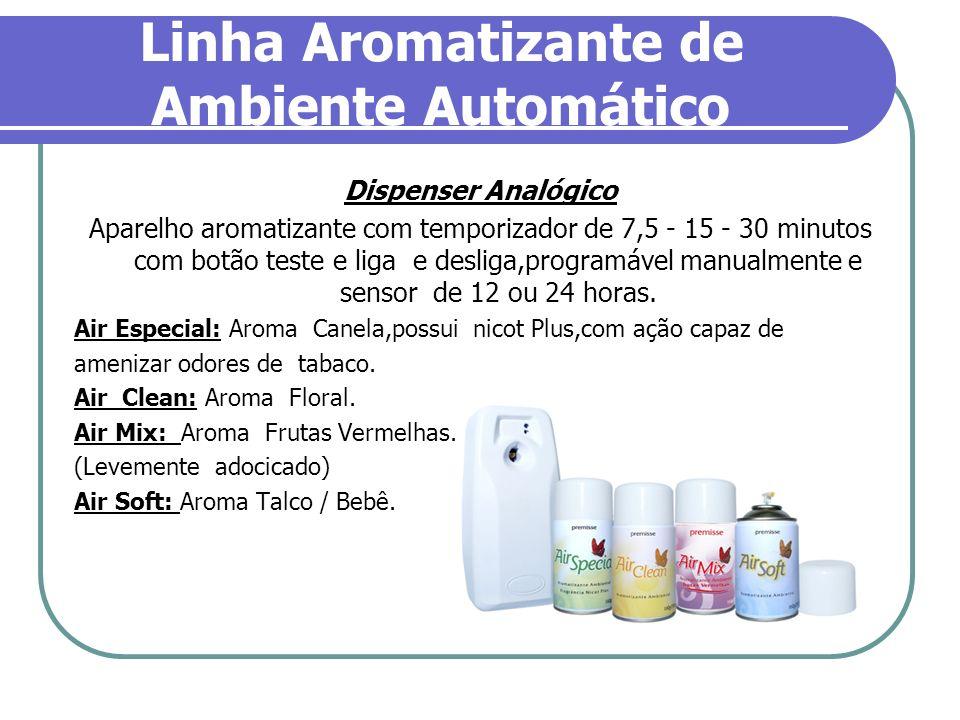Linha Aromatizante de Ambiente Automático Dispenser Analógico Aparelho aromatizante com temporizador de 7,5 - 15 - 30 minutos com botão teste e liga e