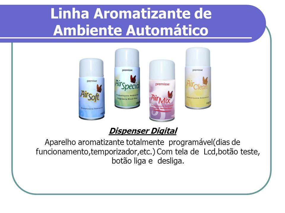 Linha Aromatizante de Ambiente Automático Dispenser Digital Aparelho aromatizante totalmente programável(dias de funcionamento,temporizador,etc.) Com