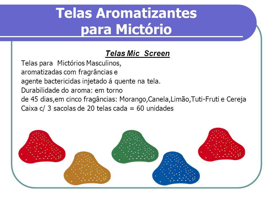 Telas Aromatizantes para Mictório Telas Mic Screen Telas para Mictórios Masculinos, aromatizadas com fragrâncias e agente bactericidas injetado á quen