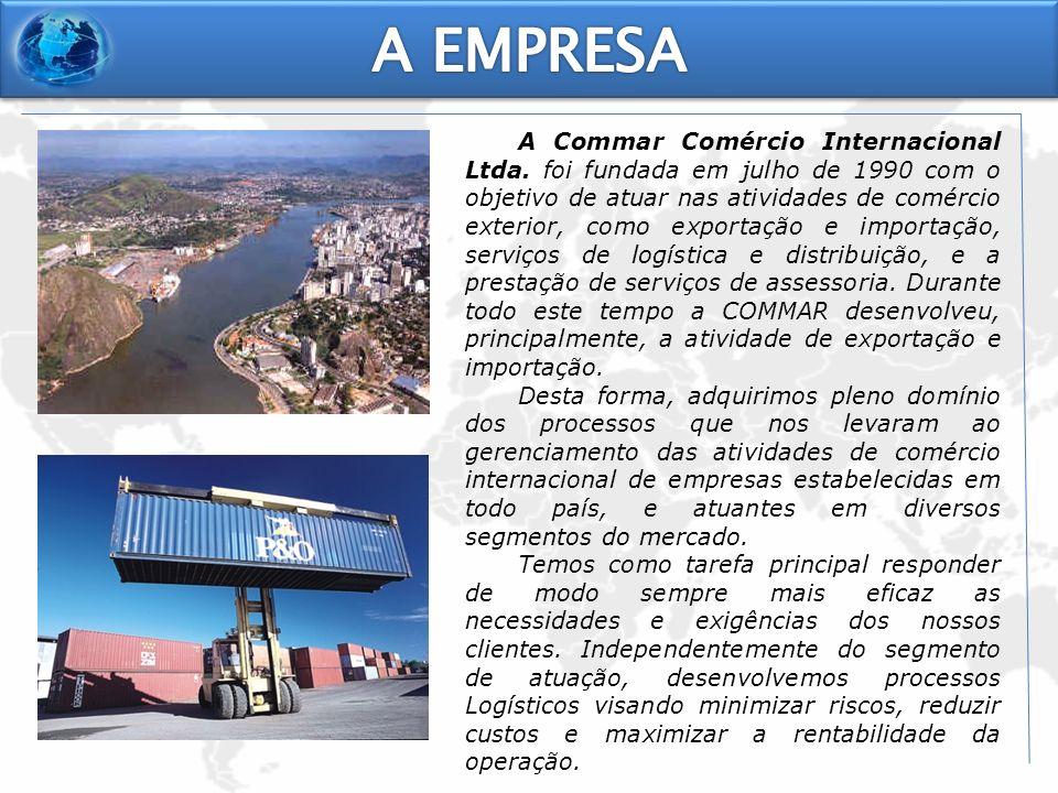 A Commar Comércio Internacional Ltda. foi fundada em julho de 1990 com o objetivo de atuar nas atividades de comércio exterior, como exportação e impo