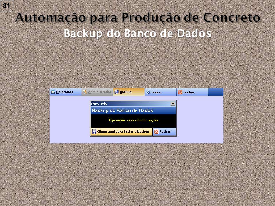 31 Backup do Banco de Dados