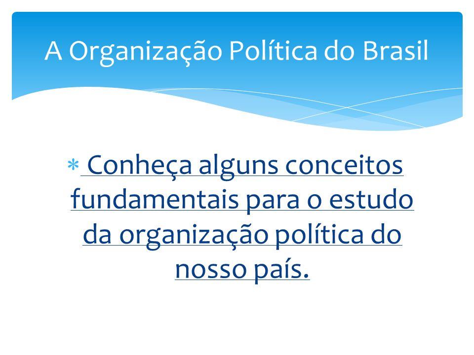 Conheça alguns conceitos fundamentais para o estudo da organização política do nosso país. A Organização Política do Brasil
