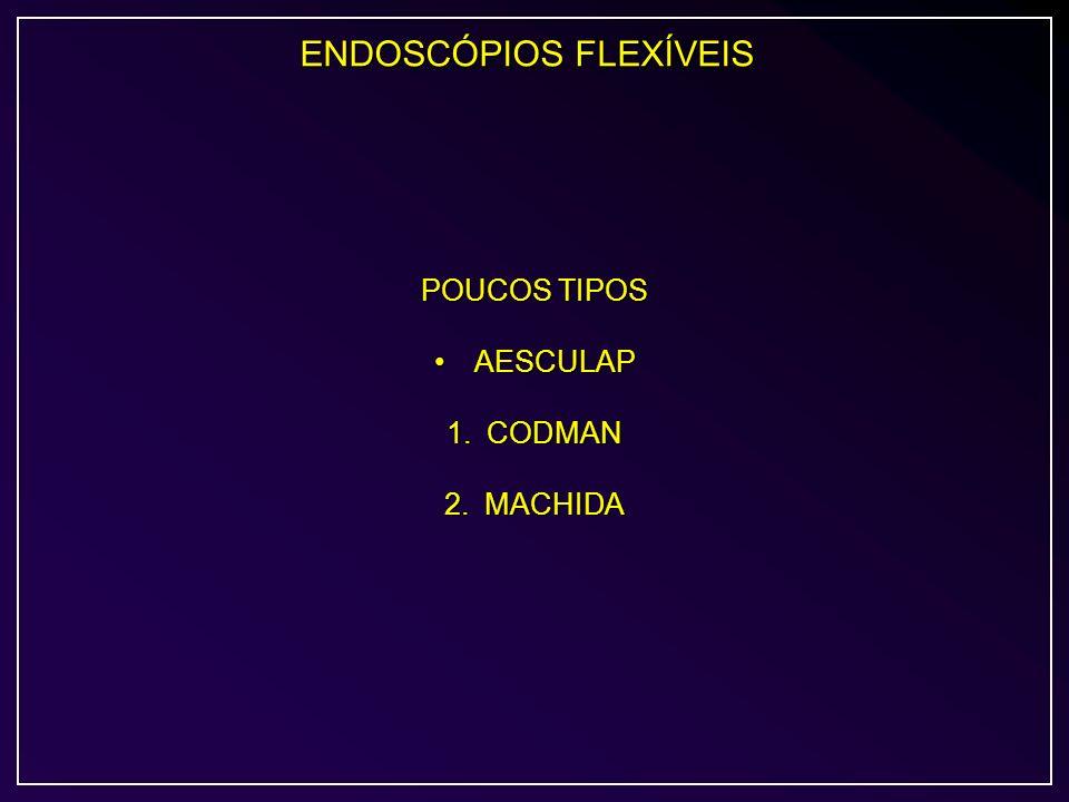 ENDOSCÓPIOS FLEXÍVEIS POUCOS TIPOS AESCULAPAESCULAP 1.CODMAN 2.MACHIDA