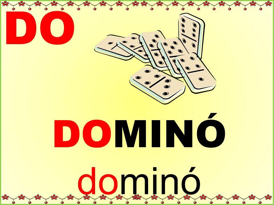DO DOMINÓ dominó