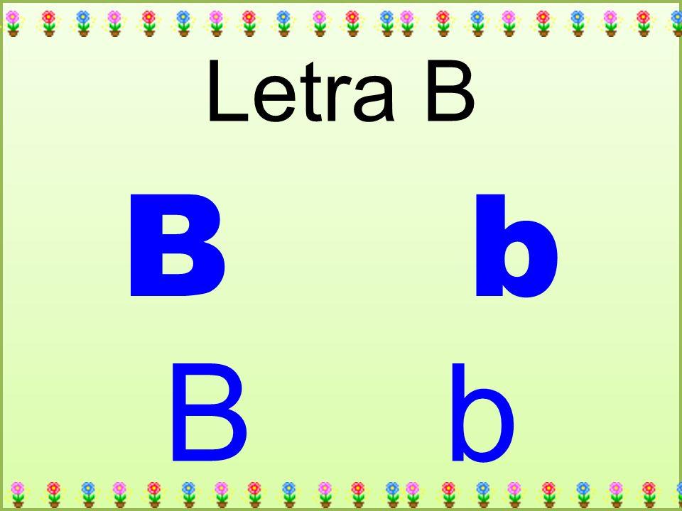 B b Letra B