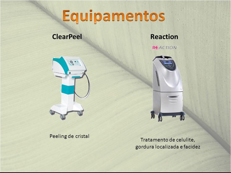 Tratamento de celulite, gordura localizada e facidez Reaction Peeling de cristal ClearPeel